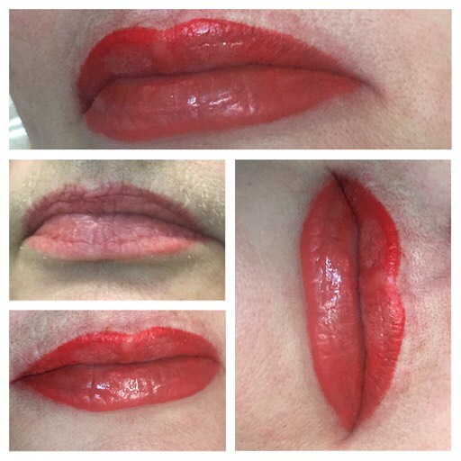 Natural looking cosmetic tattoo lips